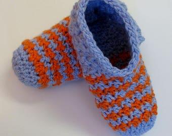 PATRON PDF No 13 Pantoufles rayures deux couleurs crochet femme, français, 3petitesmailles, chaussons, adulte