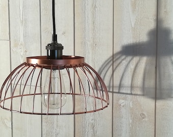 Hanging copper pink shade