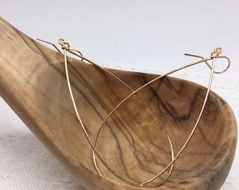 Large Hoops (sterling, rose gold, gold-fill)