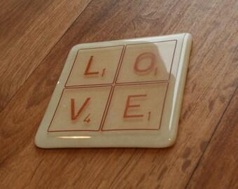 Lettre Tile Coaster - réalisé sur commande avec n'importe quelle couleur et toutes les lettres