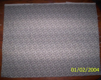 """New Black and White with Tulips 100% Cotton Fabric 26"""" x 30"""" Piece"""
