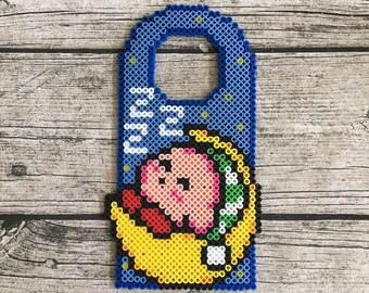 Sleeping Kirby Perler Bead Pixel Art Video Game Art Door Hanger
