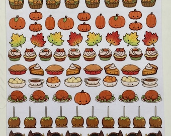 Autumn, Harvest, Fall, Thanksgiving Pumpkin Stickers for Charts, (ECLP) Erin Condren, Happy Planner, & many other planners, or just for fun!