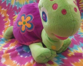 Lisa Frank Peek a Boo Turtle. Vintage Large Stuffed Plush