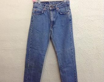 80s vintage Levi's jeans orange tab high waist mom fit jeans waist 26