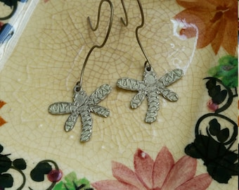 Pretty Metal Art Dragon Fly Earrings