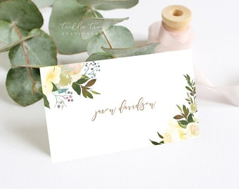 Place Cards - White Summer (Style 13816)