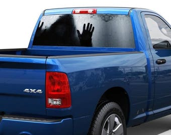 Fear Horror behind the Rear Window Decal Sticker Pick-up Truck SUV Car