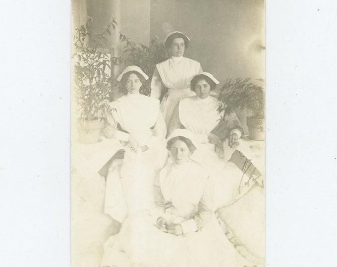 Nurses, Early 1900s: Vintage Photo RPPC [86689]