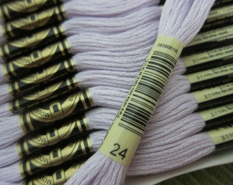 White Lavender #24, DMC Cotton Embroidery Floss - 8m Skeins - Available in Single Skeins, Larger Pkgs & Full (12 skein) Boxes