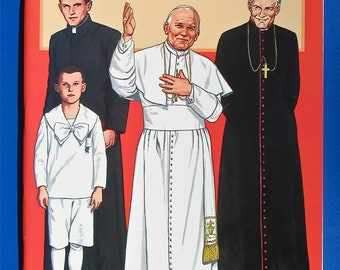 Pope John Paul II Paper Dolls by Tom Tierney