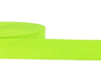 1 m cotton strap 3 cm wide uni light green