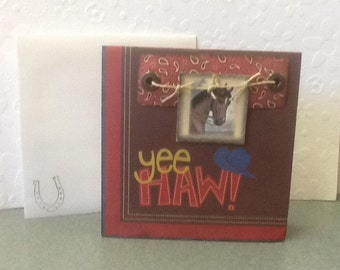 Yee Haw! Cowboy Birthday Card HB31