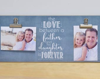Daddy Daughter Photo Frame  {Love Between Father And Daughter Is Forever} Picture Frame, Father's Day Present Idea, Gift For Dad, Wall Frame