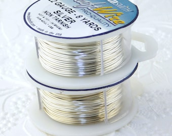 22 gauge_Non Tarnish Silver Plated Wire_8 yards_Jewelry Design_Wirework Supplies_Made in the USA