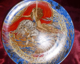 "RARE Hutchenreuther collector plate GOTTERDIMMER from ""Der Ring des Nibelungen"""