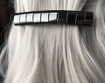 Hematite Stone Hair Clip for Thick Hair - Mothers Day From Daughter Gothic Hair Accessories Halloween Thick Hair Clip Hair Clips For Women
