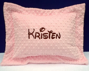 Personalized Pillow, Monogrammed Nursery Decor, Toddler Pillow Sham, Custom Name Pillow, Includes Pillow - Available in Any Color