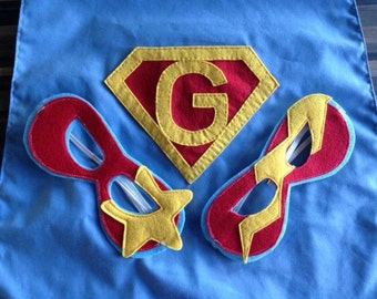 Personalised superhero cape and mask