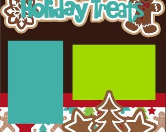 Scrapbook Page Kit Holiday Treats Premade Scrapbook Pages 2-page 12X12 Scrapbook Page Kit or Premade Layout