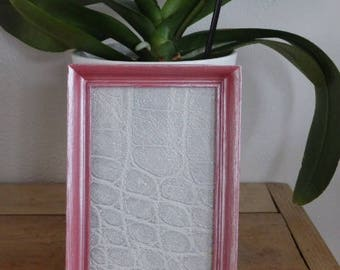 Iridescent pink photo frame