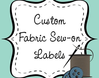 Custom Fabric Sew-on Labels