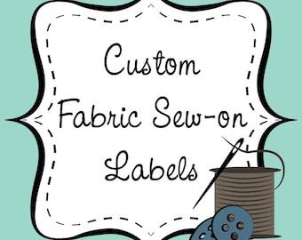 Benutzerdefinierte Stoff nähen-auf Etiketten