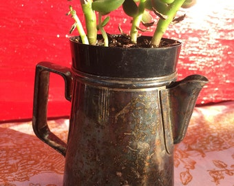 Vintage silver plate creamer small milk pitcher