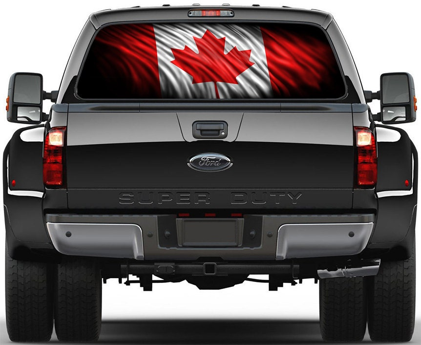 Canadian Flag Rear Window Graphic Decal Truck Suv Dodge Ford