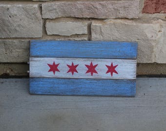 Reclaimed Wood Chacago Flag