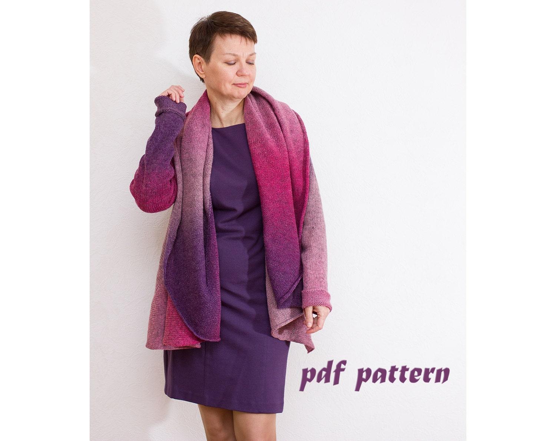 KNITTING PATTERN Women cardigan Knitting pattern Oversize cardigan ...