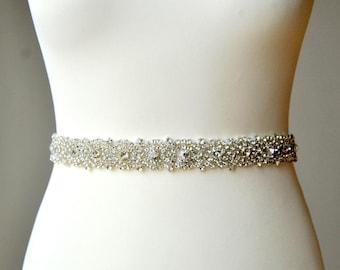 Wedding Dress Sash Belt, Luxury Crystal Bridal Sash, Rhinestone Sash,  Rhinestone Bridal Bridesmaid Sash Belt, Wedding dress sash
