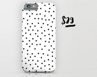 Polka Dot Black and White Phone Case