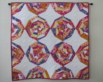 Quilted sweet spiderweb wall hanging/throw
