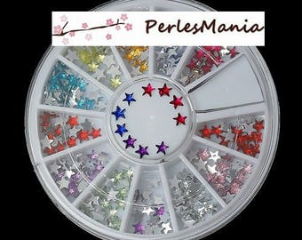 BOX OF 240 RHINESTONES NAIL NAIL ART MULTICOLORED 1169714 STARS, DIY