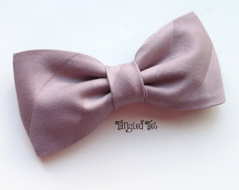 Quartz Bow Tie, Mauve Bow Tie, Purple Bow Tie, Quartz Wedding Bow TIe, Quartz Necktie