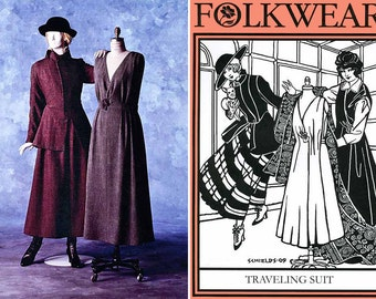 Folkwear Retro WWI Jacket & Jumper Traveling Suit sizes 6-20 Sewing Pattern # 508