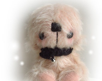 Japanese anime teddy bear Sugar - OOAK artist bear and friends pattern and by Jenny Lee of jennylovesbenny bears PDF