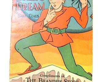 Advertising Ephemera Christmas Book Billys Dream 1930