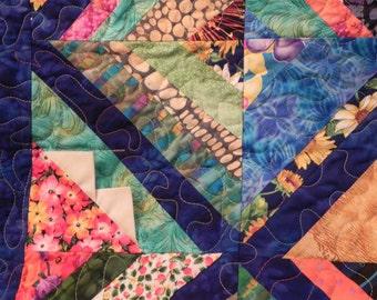 Triangles & Stripes Lap Quilt