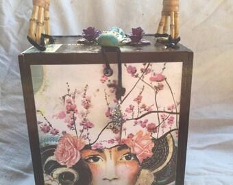 Flower Goddess Cigar Box Purse