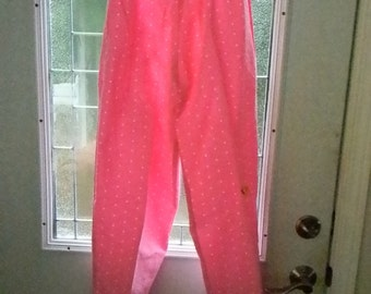 Pink and White PolkaDot Lounge Pants