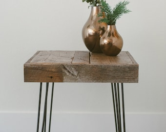 Reclaimed Wood End Table - The Inaugural Collection