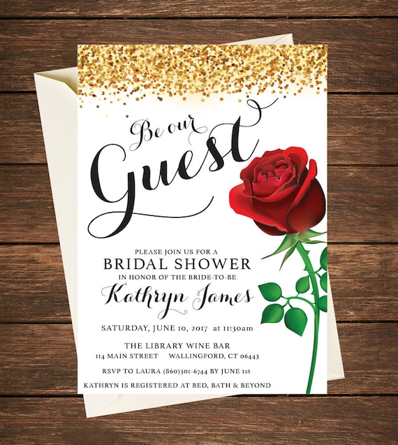 Beauty And The Beast Invitation Beauty And The Beast Bridal