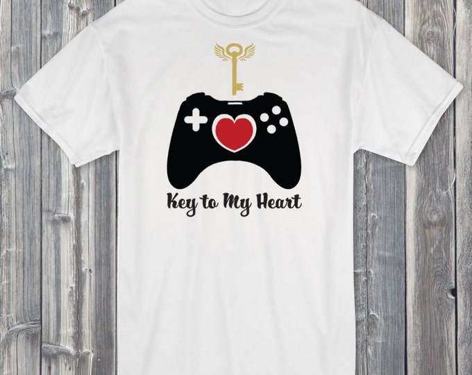 Key to My Heart 100% Soft Cotton Valentines Shirt