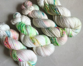 Portly Peachface 'Popping Candy' Hand Dyed Yarn