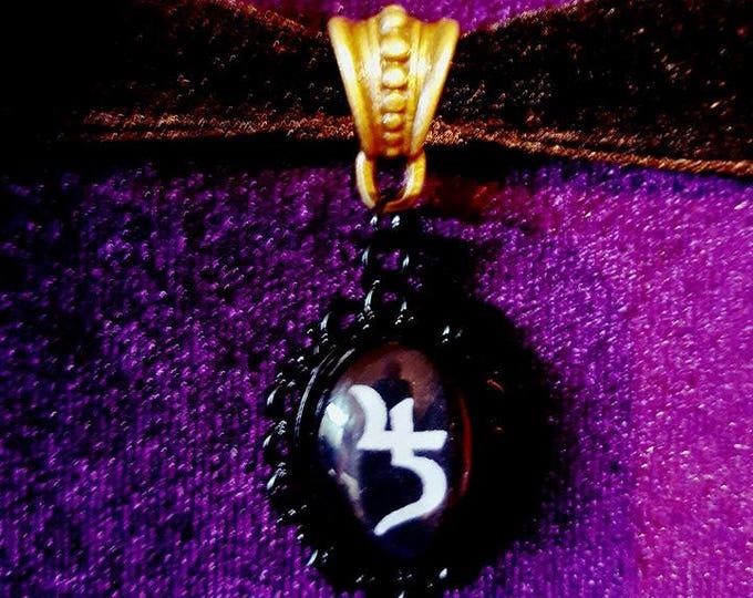 Sopor Aeternus Choker - Sopor Aeternus Gothic Jusa Saturnus Jupiter Velvet Black Velvet