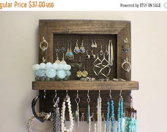 Wall jewelry display Etsy