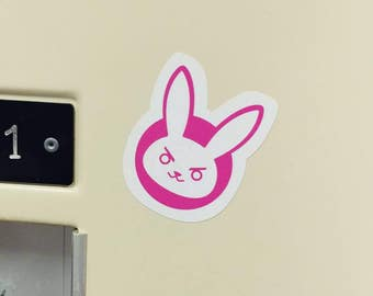 D.Va Rabbit Small Vinyl Sticker