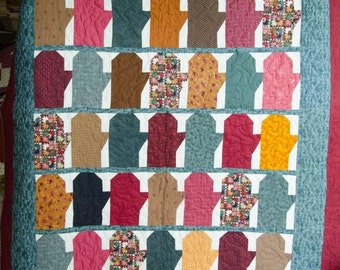 Mittens quilt - free shipping